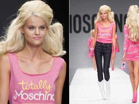 Clothing, Shoulder, Sleeveless shirt, Pink, Magenta, Style, Beauty, Blond, Waist, Fashion,