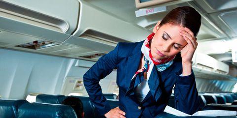 Collar, Aircraft cabin, Service, Sitting, Eyelash, Air travel, Employment, Airline, Job, Aerospace engineering,