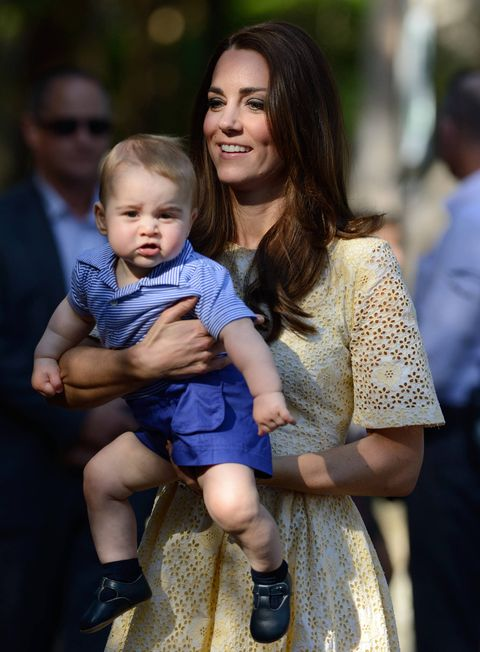 Baby Prince George has a stalker already.