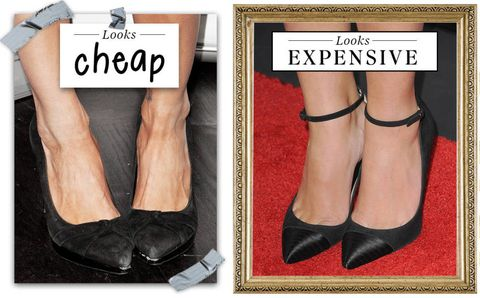 Lot Black White Red Pointed Toe Pump High Heels Patent Faux Leather Platform