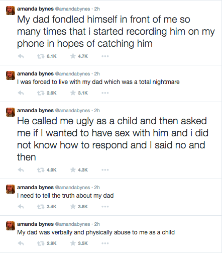 Amanda Bynes Accuses Her Father of ****** Assault
