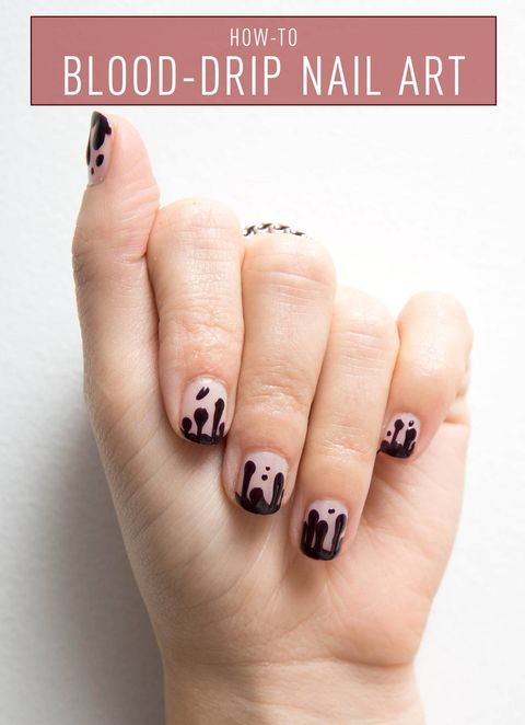 Nail art how to blood drip manicure kathleen kamphausen prinsesfo Choice Image