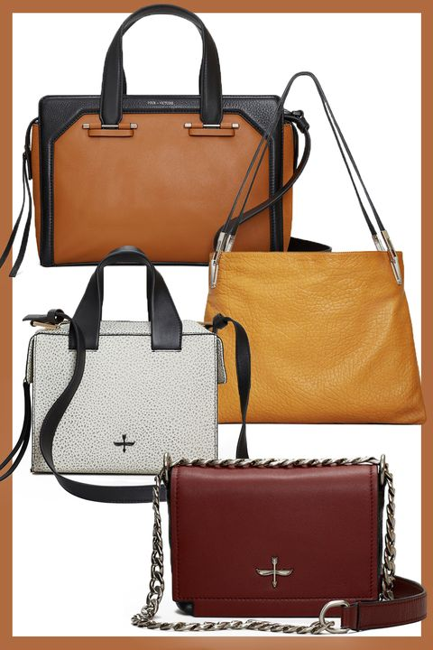 779e0b6457 From the top  Black and Tan Structured Satchel