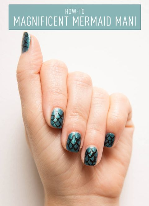 Nail Art How-To: Mermaid Manicure