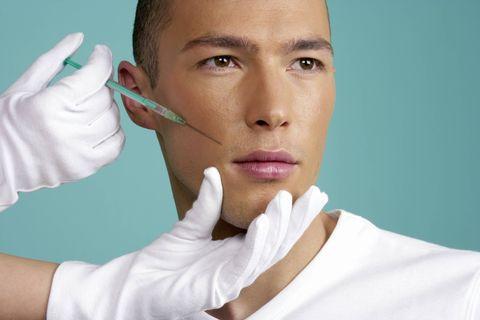 guy getting botox