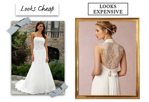 b6c16bd9fe7 10 Reasons Your Wedding Dress Looks Cheap