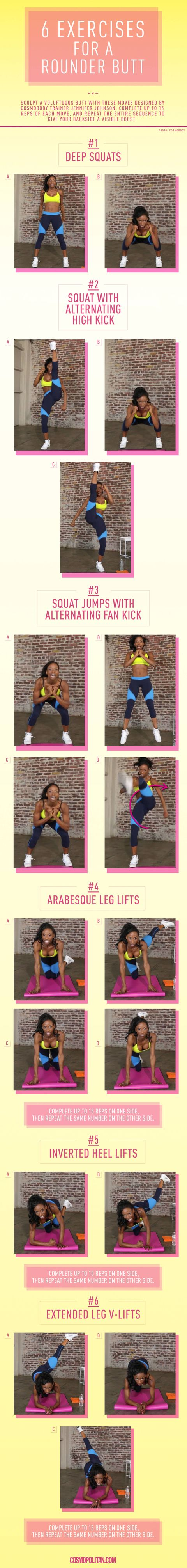 Round Butt Workout - 6 Exercises For A Rounder Butt-7243