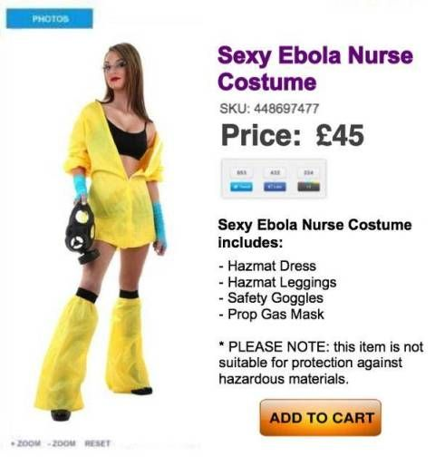 acd74d7a423 Still trying to decide between being a sexy cat and a sexy mouse for  Halloween  BO-RING! Time to bust out the Sexy Ebola Nurse costume.