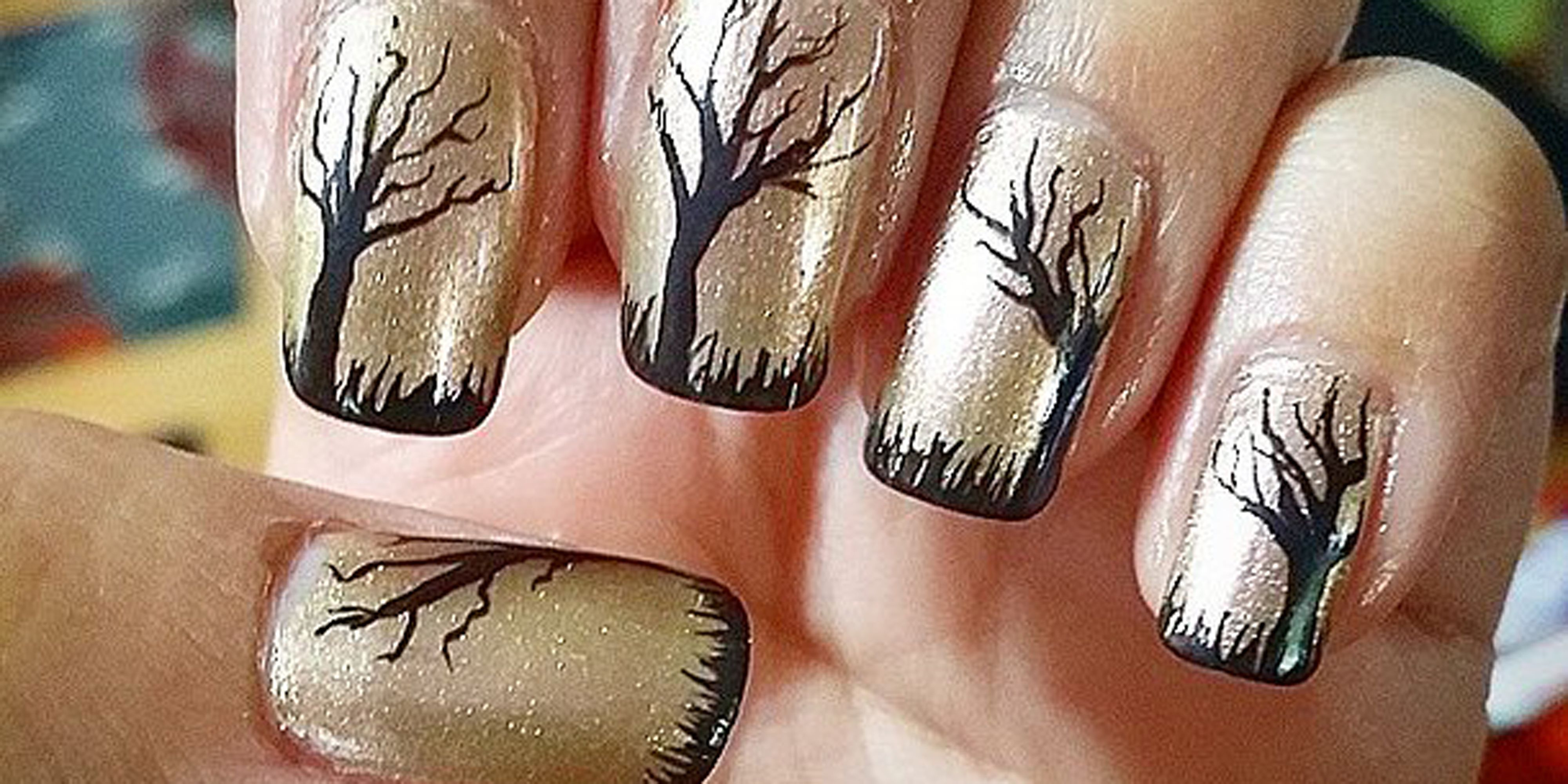 42 cute halloween nail art ideas best designs for halloween manicure prinsesfo Images