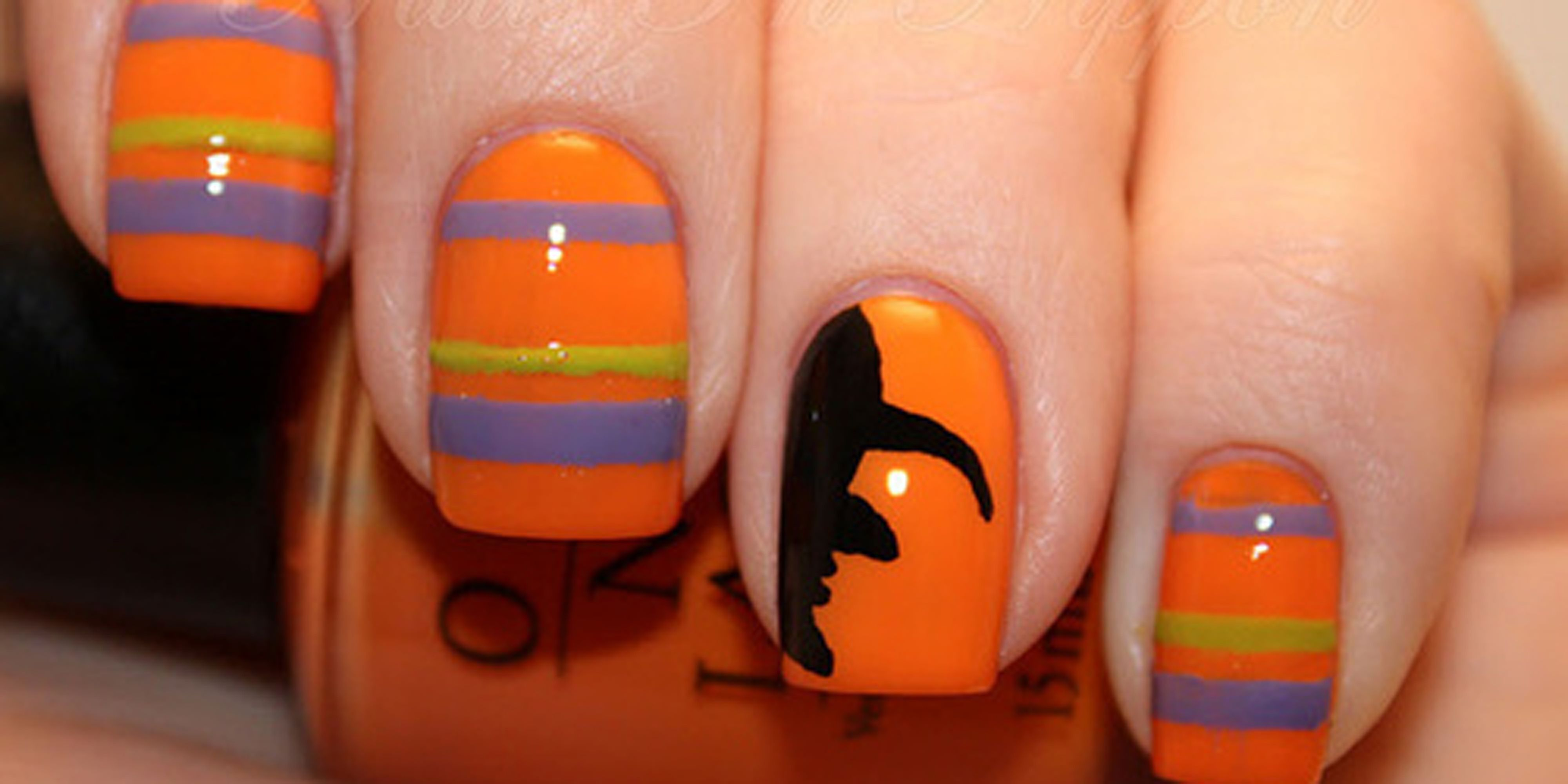 42 Cute Halloween Nail Art Ideas - Best Designs for Halloween Manicure