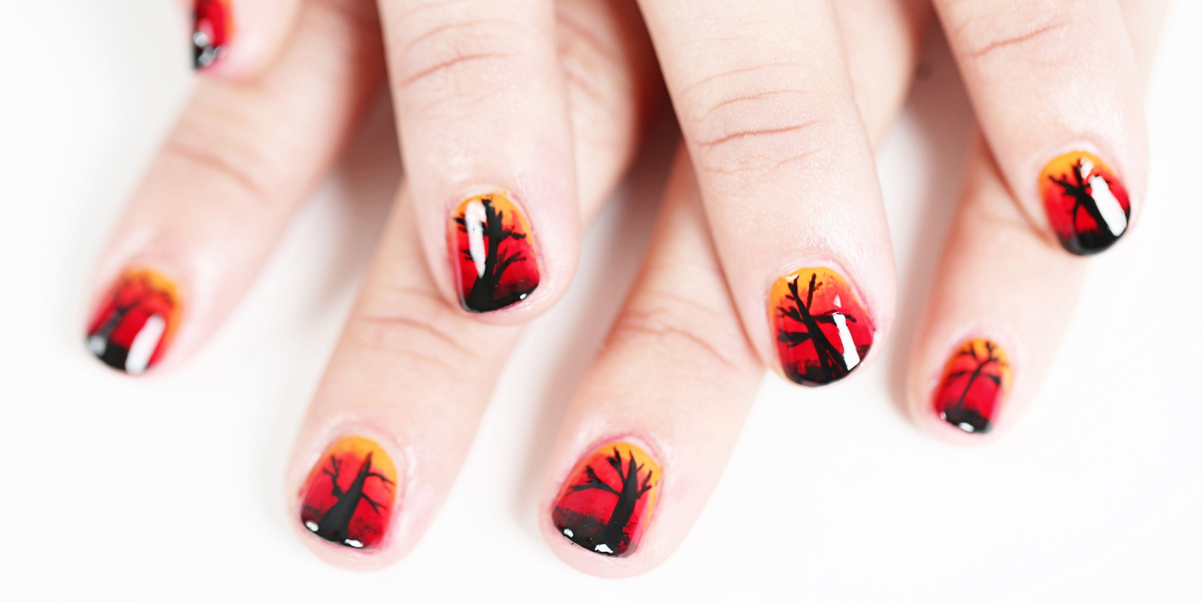 33 Cute Halloween Nail Art Ideas - Best Designs for Halloween Nails