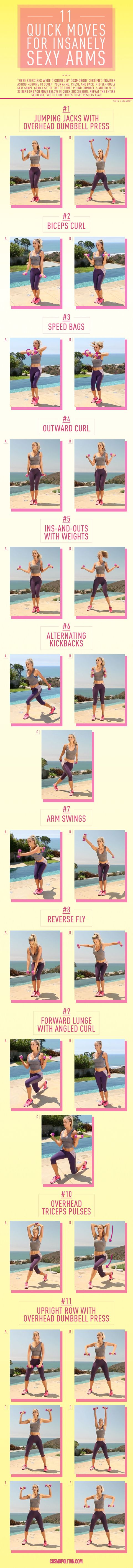 11 Quick Moves For Insanely Sexy Arms 90 Minute Full Body Circuit Workout And I Know It Pinterest Image