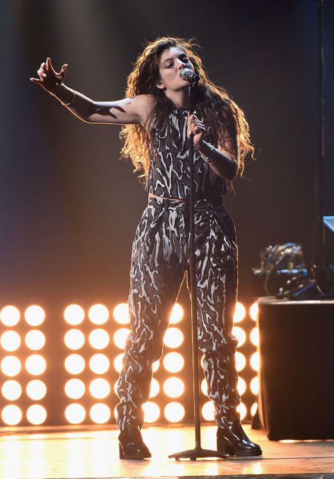 Performing onstage during the 2014 iHeartRadio Music Festival at the MGM Grand Garden Arena on Sept. 20, 2014 in Las Vegas.