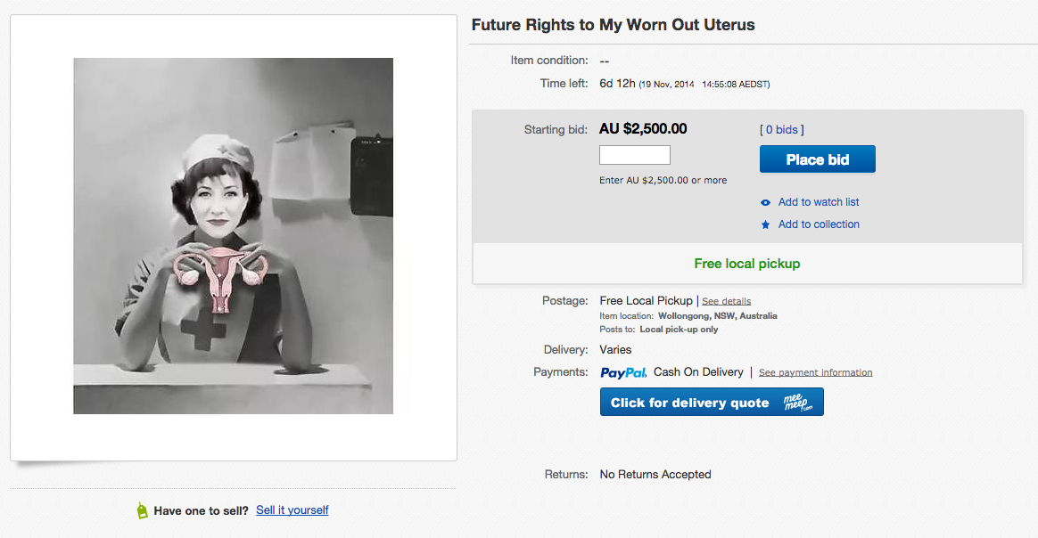 You Can Bid On This Woman S Slightly Used Uterus On Ebay