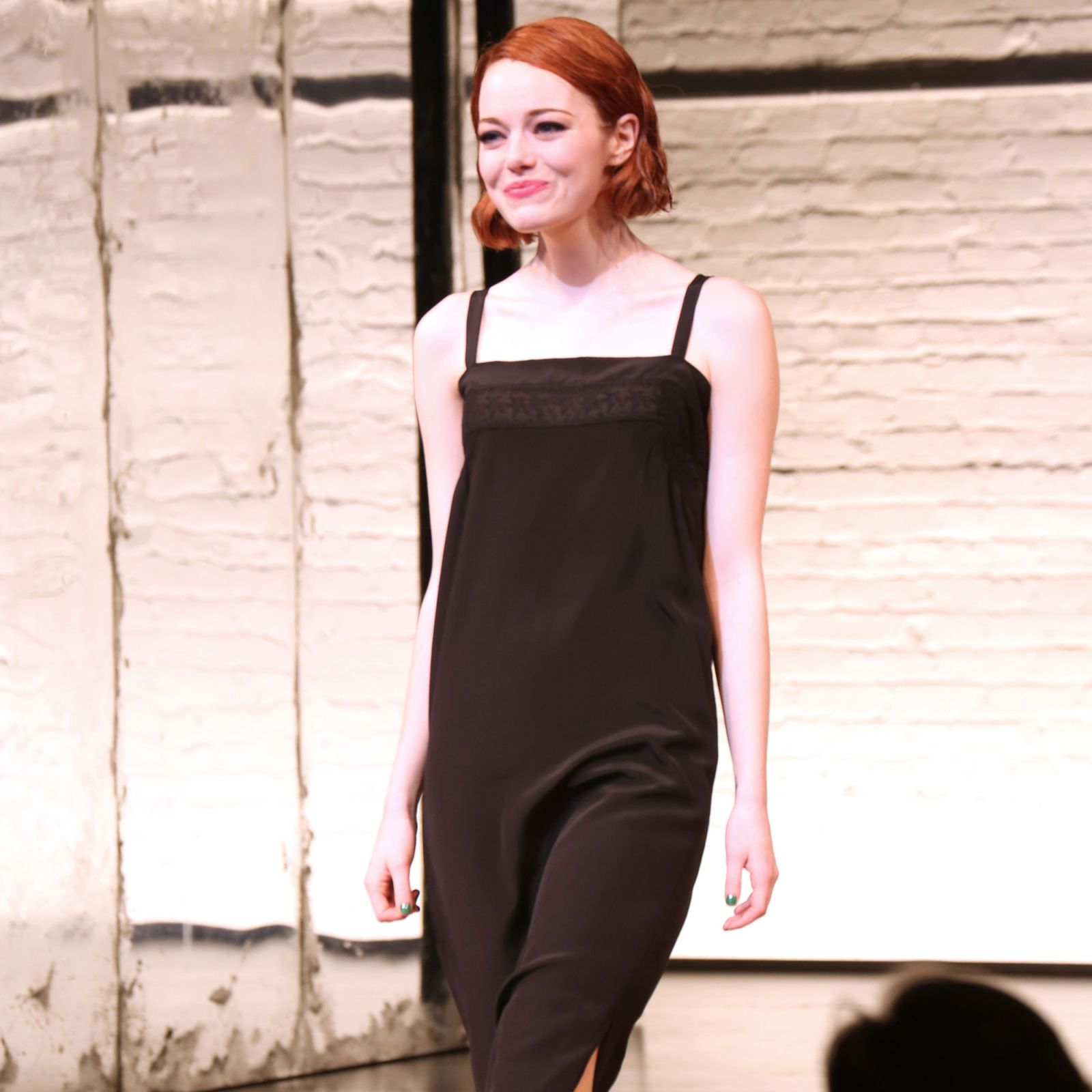 Emma during the curtain call for her debut performance in Broadway's <i>Cabaret</i> at Roundabout Theatre Company's Studio 54 on Nov. 11, 2014 in New York City.