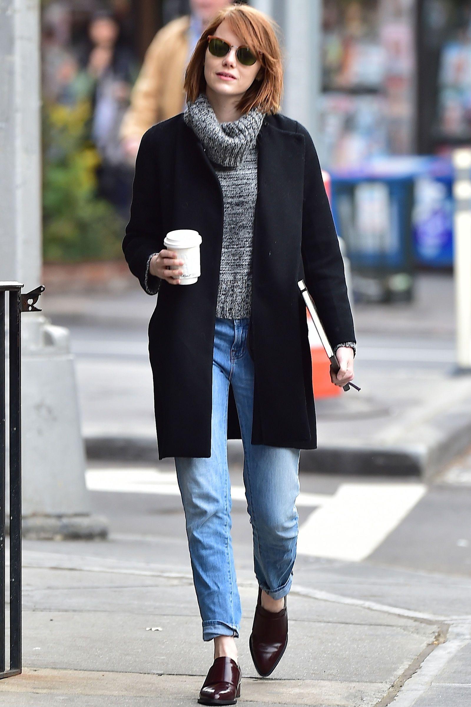 Emma Stone in the West Village on Oct. 31, 2014 in New York City.