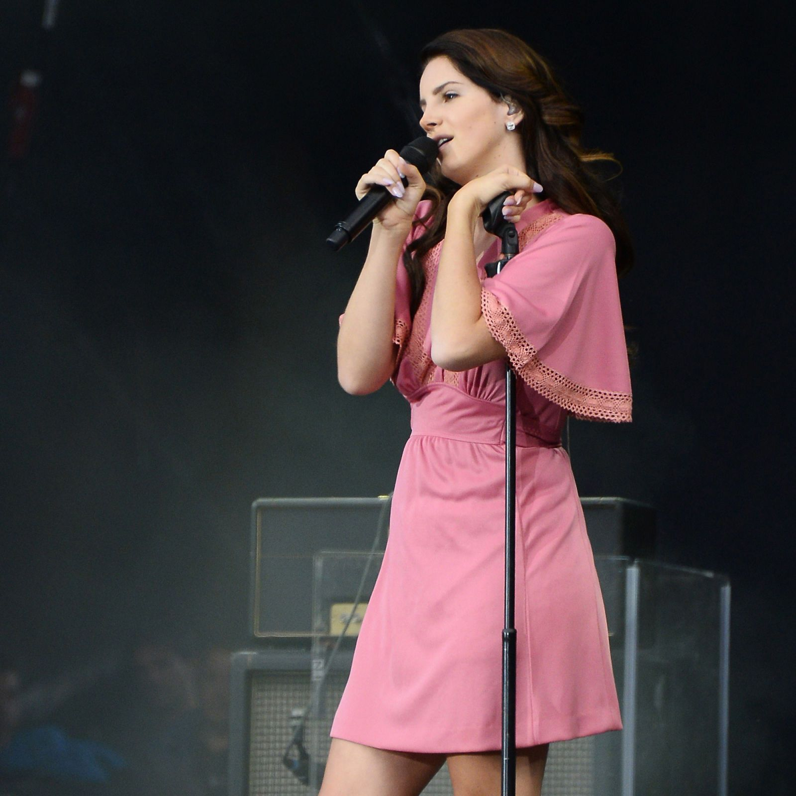 Performing on stage during the Rock-en-Seine music festival in Saint-Cloud, near Paris on August 24, 2014.