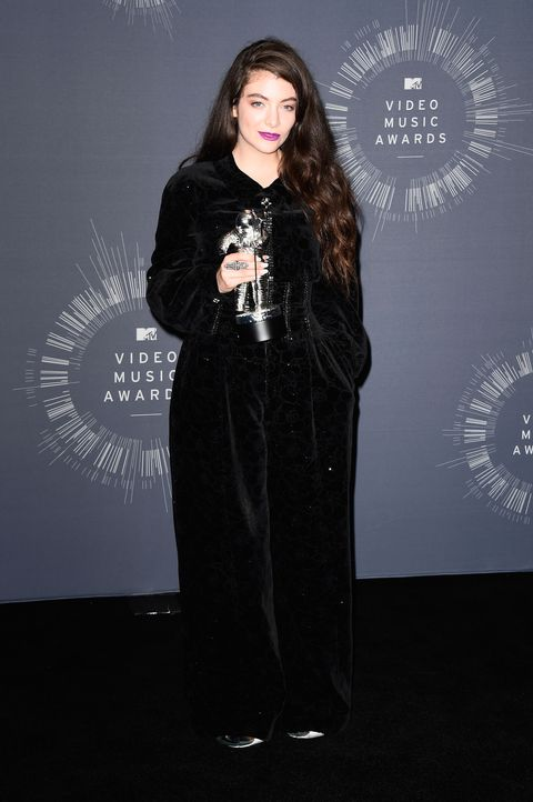 Lorde poses in the press room during the 2014 MTV Video Music Awards at The Forum on Aug. 24, 2014 in Inglewood, California.