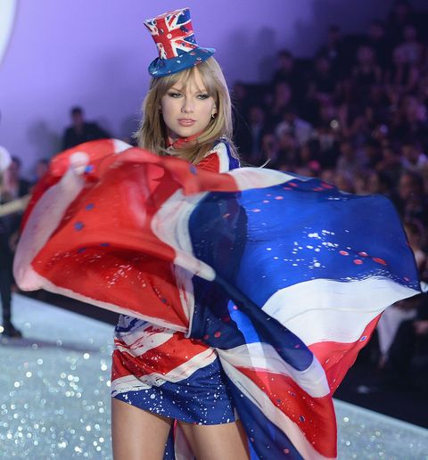 Taylor Swift performing at the 2014 Victoria's Secret Fashion Show