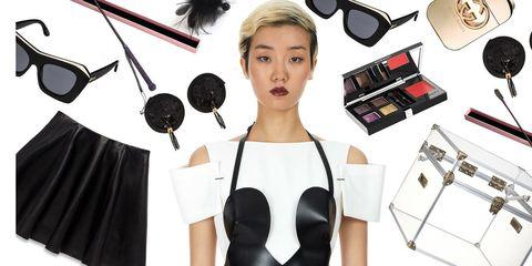 Shoulder, Style, Beauty, Eyelash, Black hair, Audio accessory, Fashion design, Makeover, Cosmetics, Day dress,