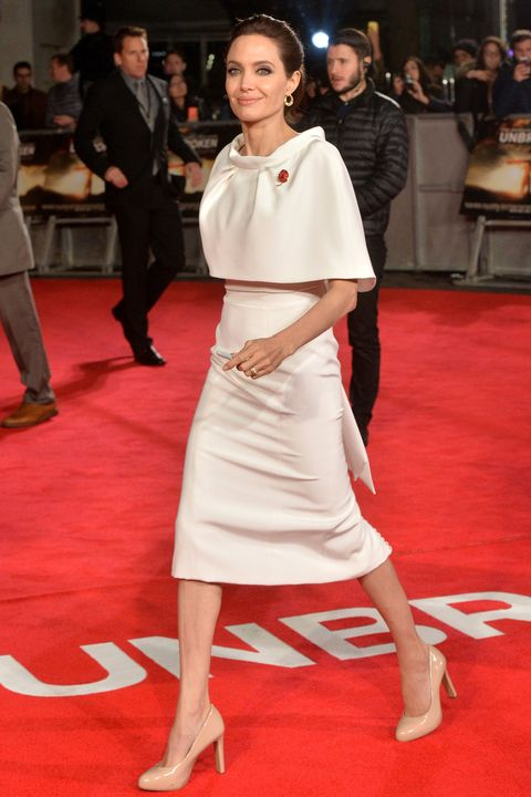 Angelina Jolie attends the UK Premiere of <i>Unbroken</i> at Odeon Leicester Square on Nov. 25, 2014 in London, England.