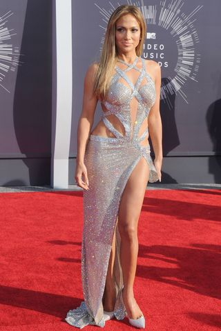 Glitter cutouts at the 2014 MTV Video Music Awards at The Forum on Aug. 24, 2014 in Inglewood, California.