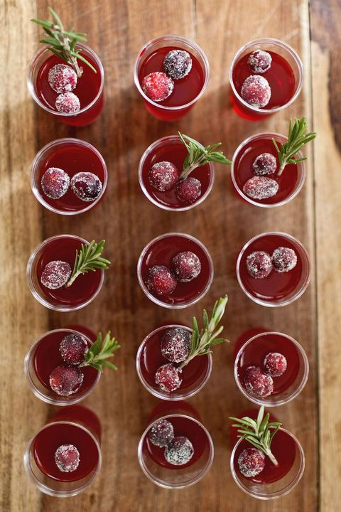 "<p></p> <p><strong>Get the recipe from <a href=""http://www.abeautifulmess.com/2013/11/cranberry-jello-shots.html"" target=""_blank"">A Beautiful Mess</a>.</strong></p>"