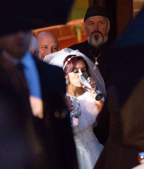 Snooki needed a little Dutch courage on her wedding day.