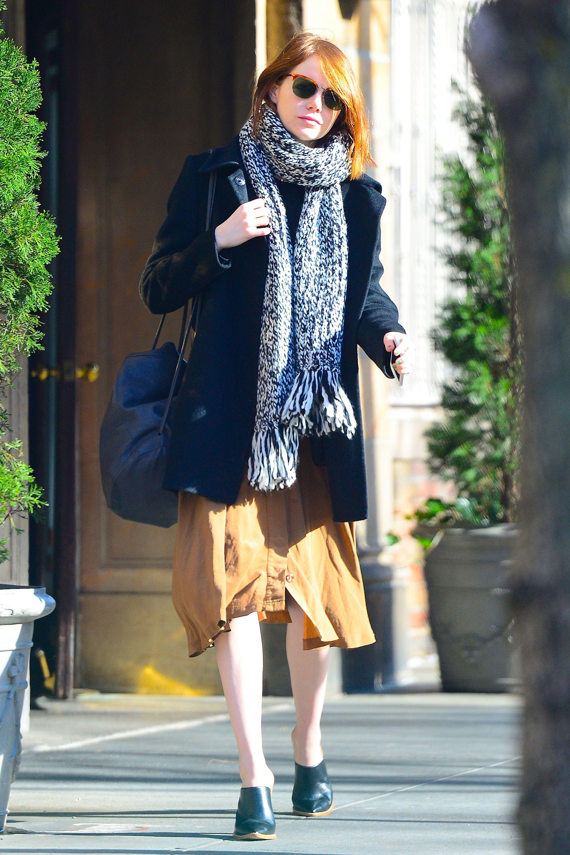 Emma Stone in Soho on Dec. 7, 2014 in New York City.