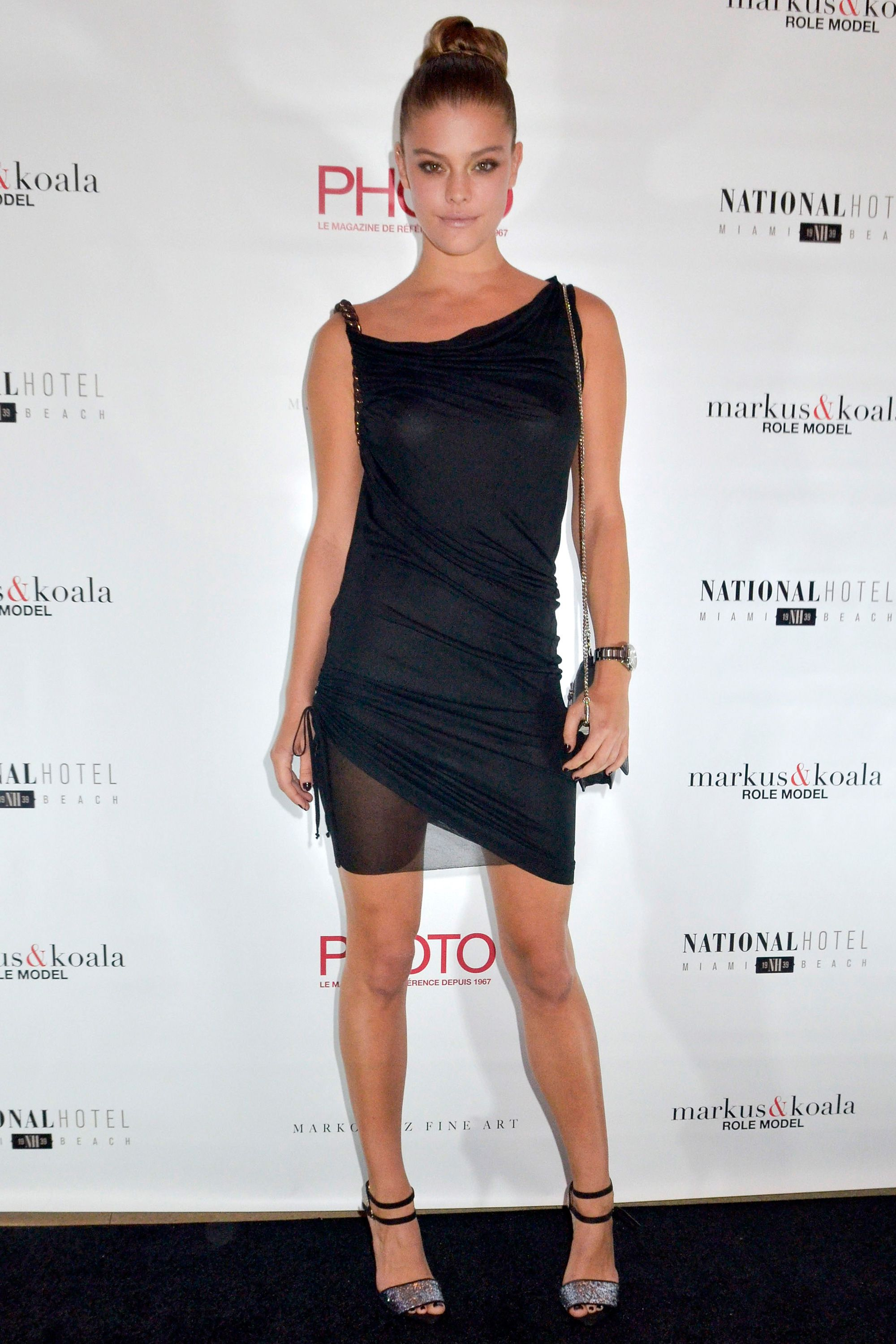 Nina Agdal attends Photo Magazine VIP reception at National Hotel on Dec. 5, 2014 in Miami Beach, Florida.