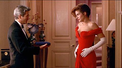 Shoulder, Coat, Suit, Formal wear, Dress, Waist, Fashion, Strapless dress, One-piece garment, Conversation,