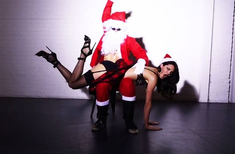 Santa Claus spanked Kendall Jenner.