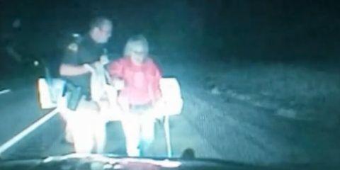 woman escorted