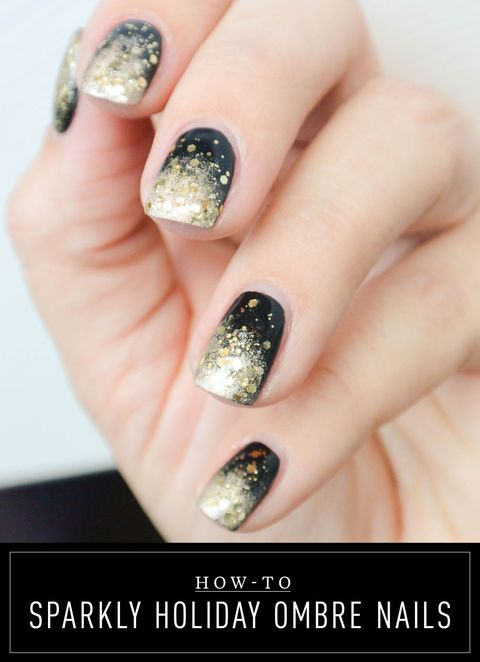 Sparkly New Year\'s Eve Ombré Nails - Nail Tutorial