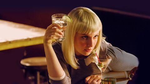 Hand, Drink, Drinking, Tableware, Drinkware, Alcohol, Blond, Alcoholic beverage, Brown hair, Distilled beverage,