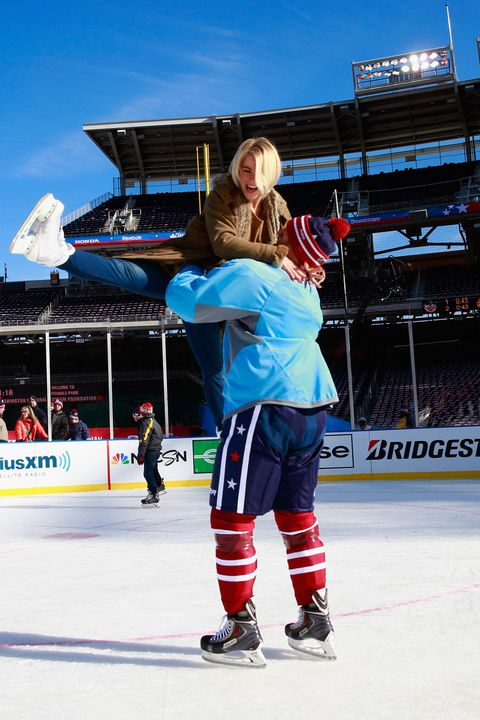 Ice skate, Trousers, Ice, Recreation, Sport venue, Outerwear, Ice rink, Outdoor recreation, Skating, Sports,
