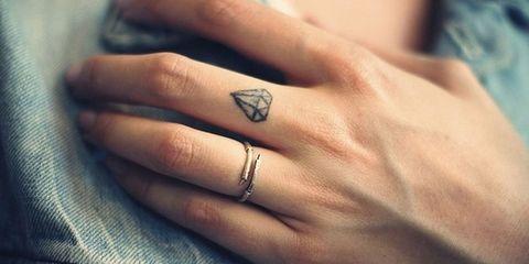 29703f0f6 28 Tiny Finger Tattoo Ideas. 4 of 29. image