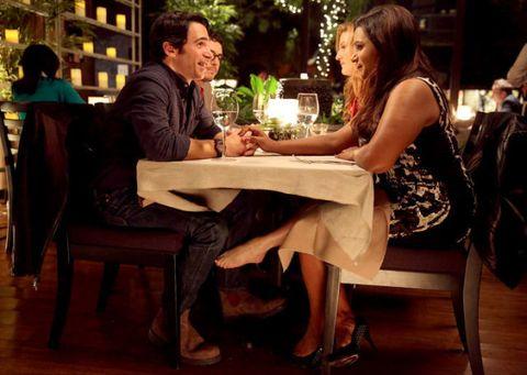 Sitting, Furniture, Interaction, Conversation, Wood flooring, Customer, Restaurant, Love, One-piece garment, Laminate flooring,
