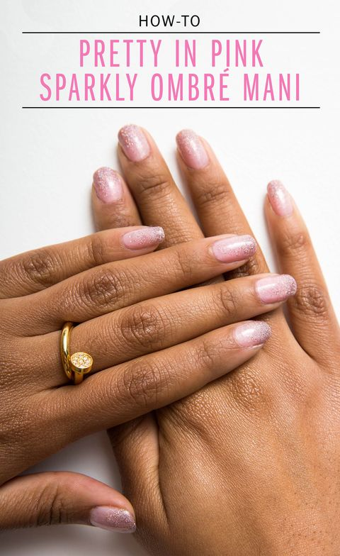 Nail Art How-To: Pretty in Pink Ombré Glitter Mani