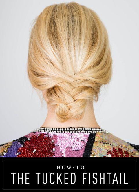 Tucked Fishtail Braid Hair How To Gorgeous Tucked Fishtail Braid