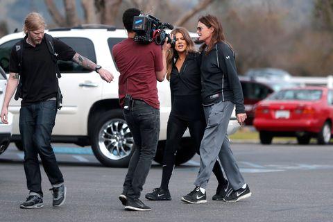 Bruce Jenner filming new TV show.