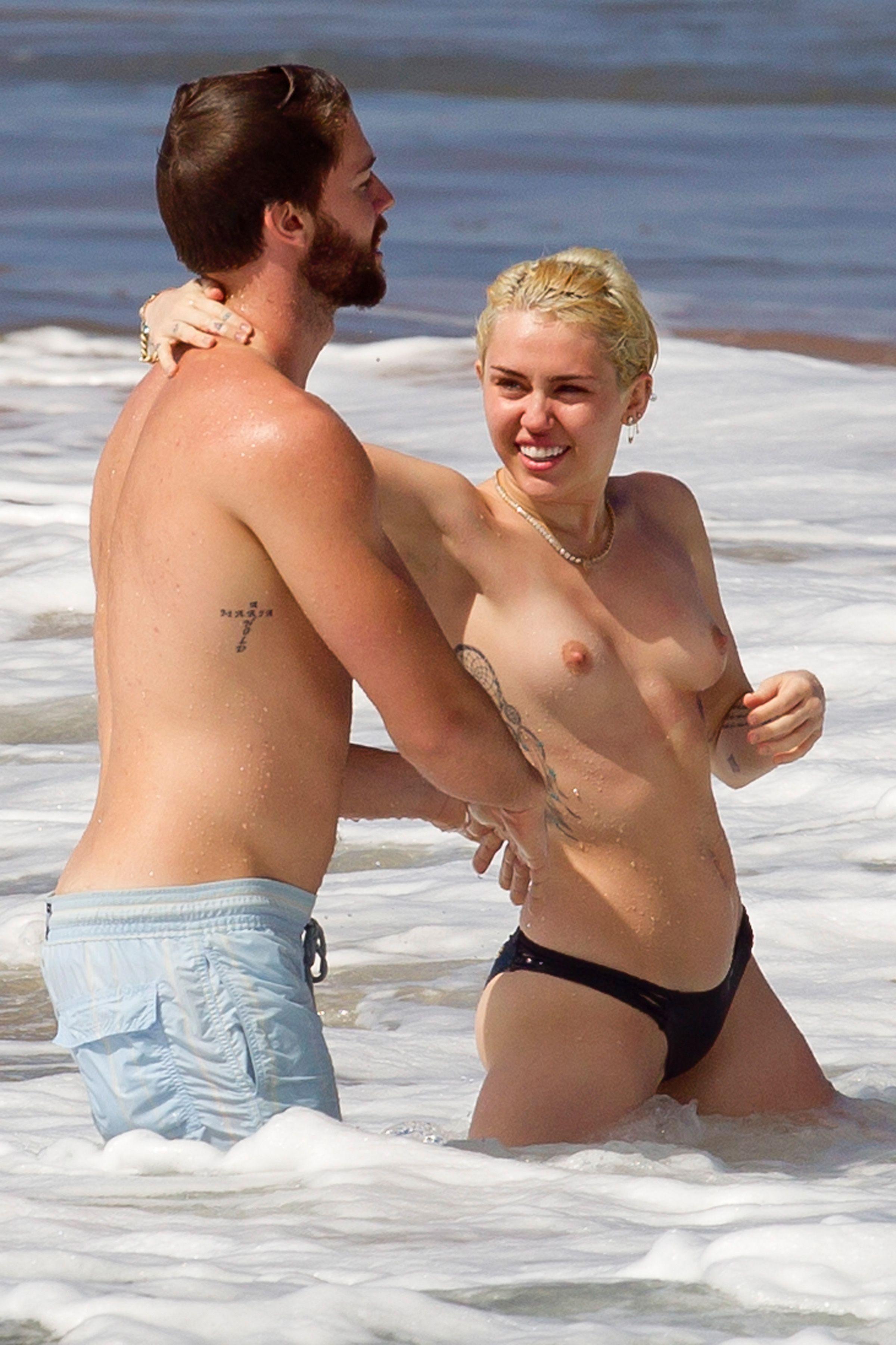 Miley Cyrus Topless Bikini