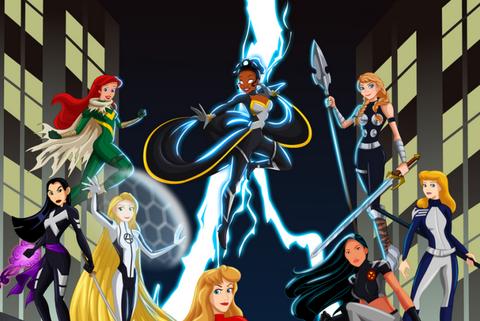 disney princesses marvel heroes