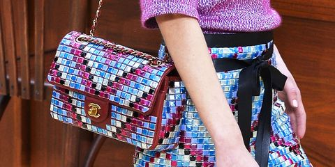 Blue, Bag, Textile, Style, Pattern, Fashion accessory, Magenta, Shoulder bag, Fashion, Electric blue,
