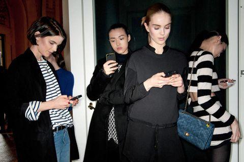 Bag, Fashion, Luggage and bags, Black hair, Conversation, Little black dress, Handbag, Shoulder bag, Makeover, Day dress,