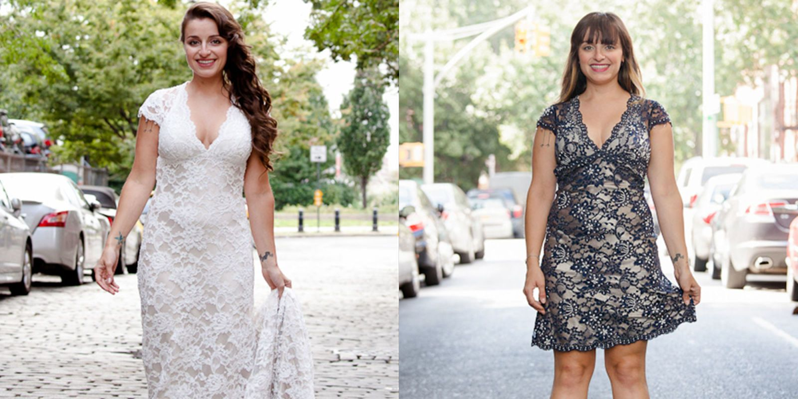 wedding dress to cocktail dress