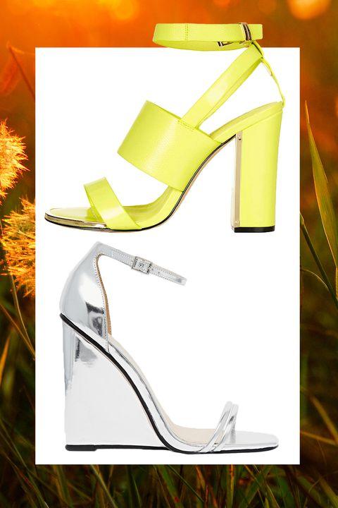 Yellow, High heels, Sandal, Basic pump, Beige, Material property, Design, Fashion design, Bridal shoe, Court shoe,
