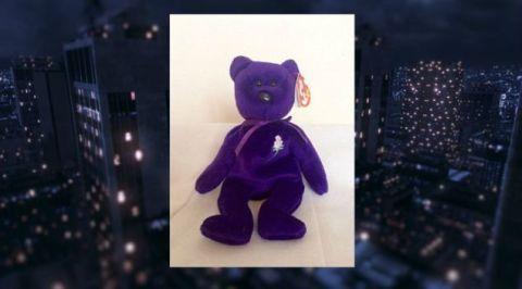 Toy, Purple, Violet, Figurine, Snout, Bear, Action figure, Animal figure, Fictional character, Tower block,