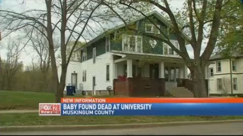 Baby found dead sorority house