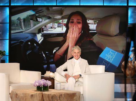 Ellen DeGeneres and Sonya Romero